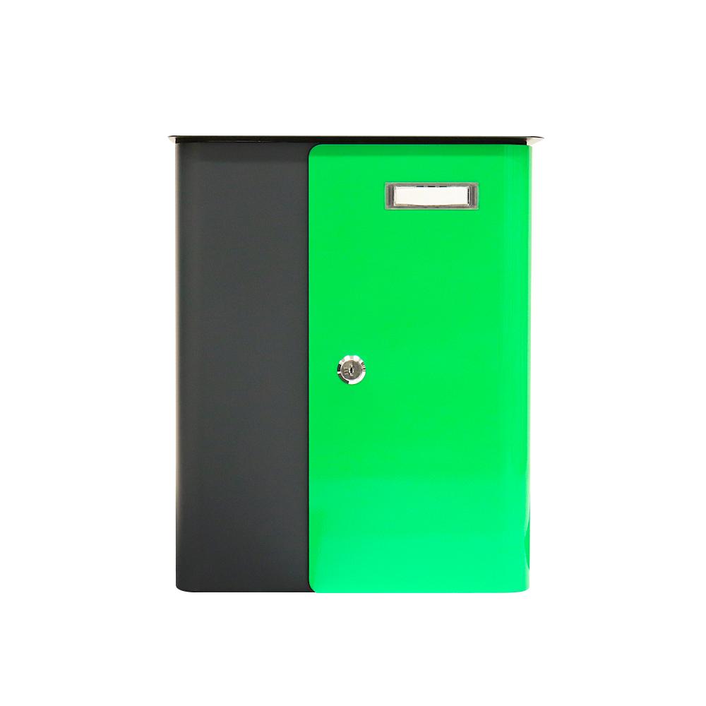 Rottner Briefkasten Splashy  Anthrazit Neongrün