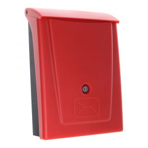 Rottner Kunststoff Briefkasten Posta Schwarz/Rot